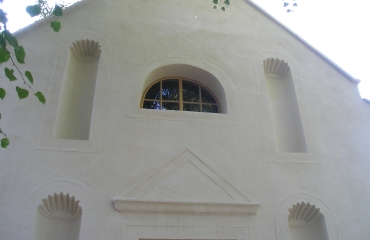 Fasáda kaple Sv. Anny