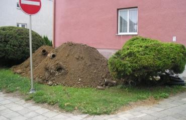 Odvodnění bytovky Jemnice