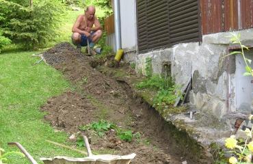 Oprava chaty Lančov